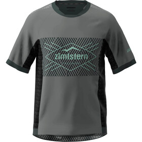 Zimtstern TechZonez T-shirt Heren, gun metal/pirate black/granite green